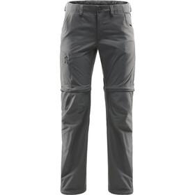 Haglöfs Lite Pantalon convertible par zip Femme, magnetite